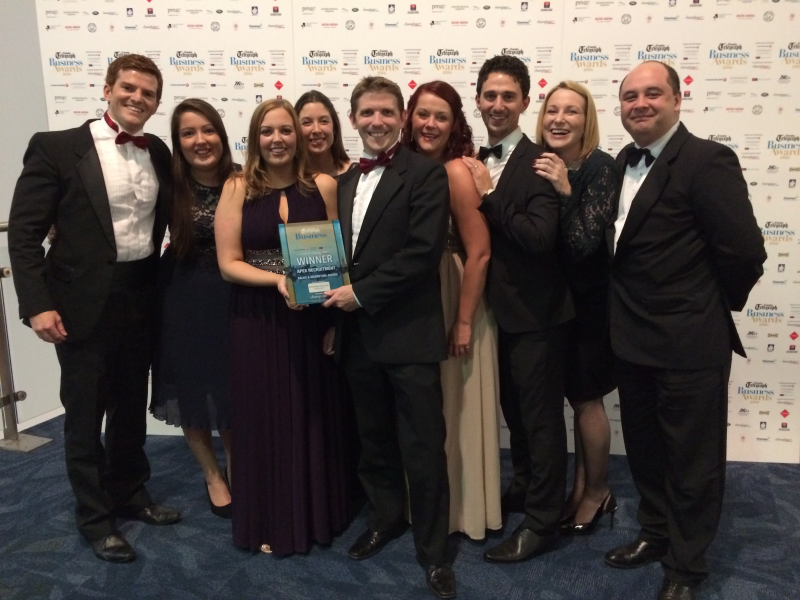 Apex Recruitment win Sales and Marketing of the Year